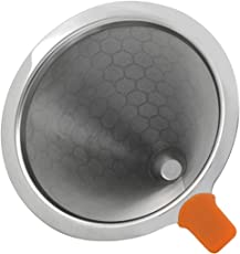 Outgeek Coffee Dripper Stainless Steel Reusable Coffee Filter Coffee Strainer