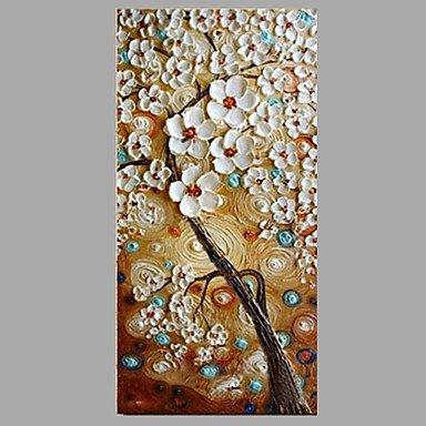 Handgemalte Blumenmuster/Botanisch Modern/Zeitgenössisch Ein Panel Leinwand Hang-Ölgemälde For Haus Dekoration , include inner frame , 16