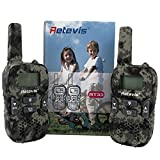 Retevis RT33 PMR Funkgerät für Outdoor-Reisen und Kinder mit LC-Display (1 Paar Tarnfarben) -