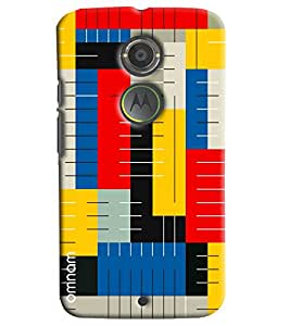 Omnam Confusing Coloful Pattern Printed Designer Back Cover Case For Moto X2