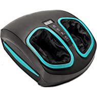Shiatsu Foot Massager Machine - Electric Deep Kneading Massage with Heat & Air Compression -For Circulation, Feet Legs Muscle Relief, Plantar Fasciitis, Neuropathy, Chronic Nerve Pain Therapy Spa Gift
