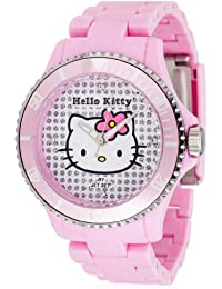 Hello Kitty Mädchen-Armbanduhr Nichinan Pink Analog Quarz Plastik HK1464-045