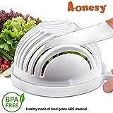 Salatschneider Schüssel Aonesy Salat Chopper Make Obst Gemüse Salat in 60 Sekunden