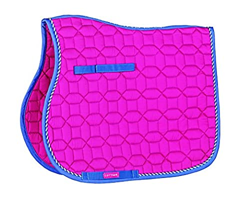 Cottage Craft Electra Pattern Quilted Saddle Cloth - Pink, Full