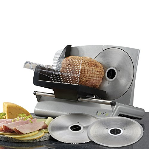 51pFzd9nqRL. SS500  - Cooks Professional Meat Slicer Machine for Home Use, Quiet 150W Electric Motor with 3 Interchangeable Food Slicers, Different Blades for Bread Meat and Cheese, Plastic Blade Guard & Non-Slip Feet