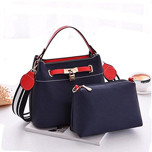 mxgirls Handtaschen Damen,Damen Handtaschen Umhängetasche Taschen Handtasche Shopper Polarblau