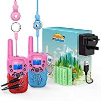 Wishouse Kids Walkie Talkies 2 3 4 Pack, 3 KM Long Range Walky Talky for Family, Fun Birthday Xmas Gifts Toys for Kids 3+, Easy to Use and Carry for Indoor Camping Hiking
