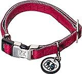 Karl Lagerfeld Haustiere Hunde Halsband aus Weichem Leder, Verstellbar, Farbe: Rot, Größe: 20