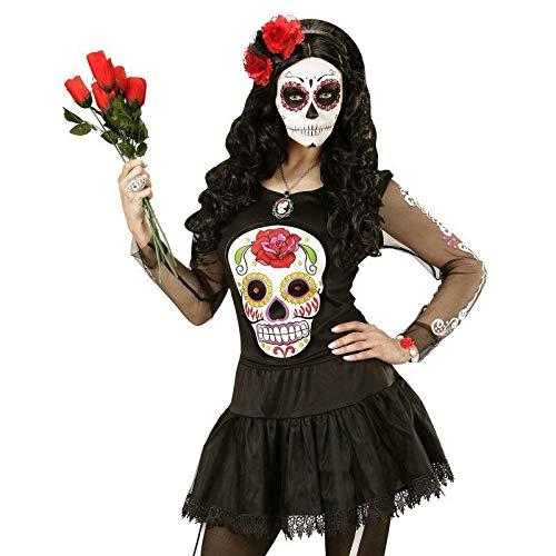 Shirt Gr. M / L Dia de los Muertos / Pullover Tag der Toten für Damen / Halloween Kostüm ()