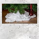 Kunstschneedecke mit silbernem Glitter, Maße: ca. 90 x 240 cm, Schneedecke Kunstschnee, Kunstschneedecke, Tischband, Tischläufer …