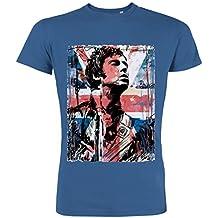 Pushertees - T-Shirt Mann Royal Blaue LTB-68 little bastard musik rock pop british pop Englisch Brüder oasis