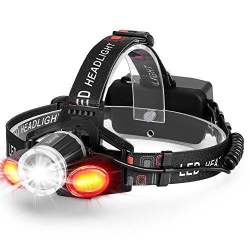 USB Wiederaufladbare LED Stirnlampe, Superheller 6000LM LED Kopflampen 5 Helligkeiten zu wahlen,Zoomable Wasserdicht LED Stirnlampen, ideal für Wandern, Camping, Ausflug .