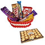 Love Of Basket With 24 Pcs Ferrero Rocher