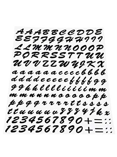 Quattroerre 1231Kit Buchstaben selbstklebend, schwarz (Selbstklebende Buchstaben)