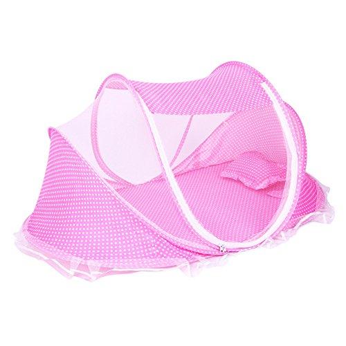 L Y Baby-Reise-Bett, Baby-Bett-Tragbare Faltende Baby-Krippen-Moskito-Netz-Tragbare Baby-Feld-Neugeborene Faltbare Krippe,Pink