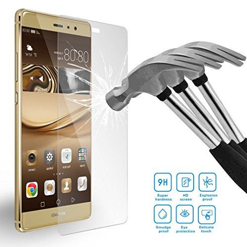 Für Huawei P9 ,EVA-L09, EVA-L19, EVA-L29 LEMORRY(TM) Gehärtetem Folien Glas Panzerglas Displayschutzfolie LCD Displayschutz Screen Glass Film Protector 9H Displayschutz Screen Glass Protector - Glas Lcd Screen Protector
