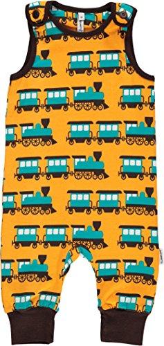 maxomorra Baby Spieler Eisenbahn orange TRAIN GOTS Standard Öko (56)