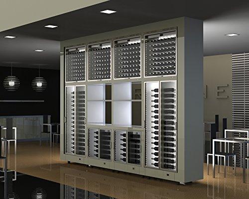 Ip Industrie - Parete con 8 cantine refrigerate due vani a giorno con accesso da ambo i lati capacità 592 bottiglie