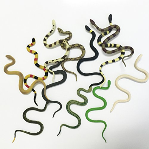 GiftExpress Life Like Snakes for Medusa Costume, Halloween Decoration and School Education