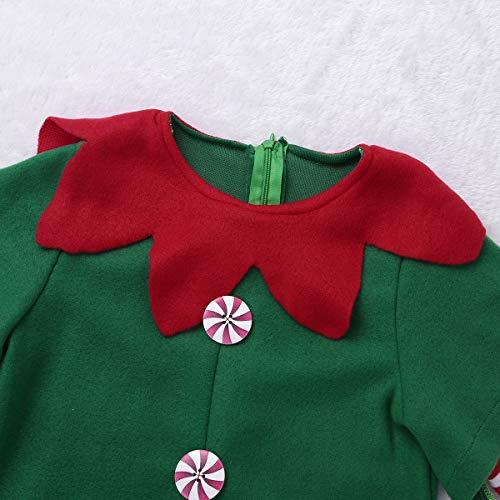 88cbcde7e YiZYiF Disfraz Infantil para Navidad Unisex Niños Dsifraces de Elfo Traje  de.