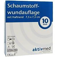 AKTIVMED Schaumstoffwundaufl.7,5x7,5 cm m.Haftrand 10 St Verband preisvergleich bei billige-tabletten.eu
