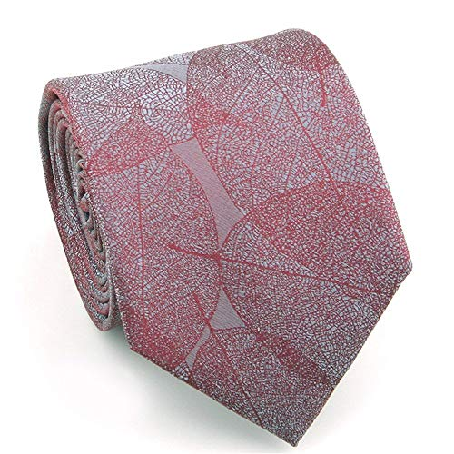 BAIJJ 7cm rote graue geometrische 100% Seide handgefertigte Elegante Krawatte in Geschenkbox -