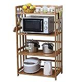 CAOYUYMX Shelf Ripiano da Cucina, Porta Forno a microonde, ripiano Multiuso da Cucina, 4 Strati Mobile Contenitore (Size : 60 × 38 × 118cm)