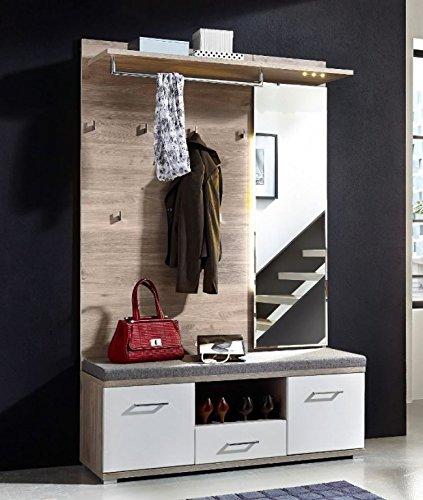 Victoria 2 Kompaktgarderobe Garderoben Set Komplettgarderobe WeißSilbereiche