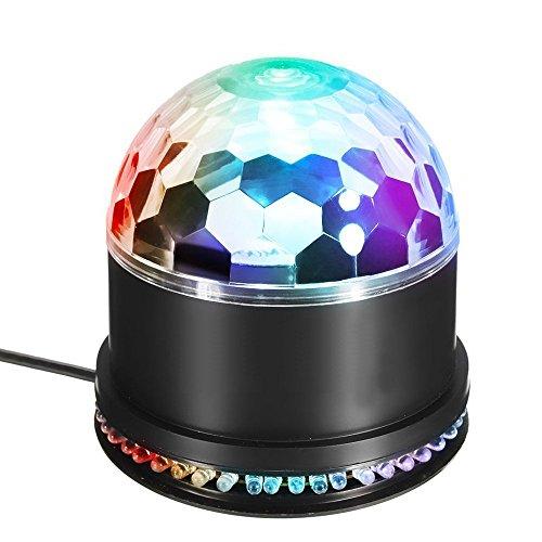 LED Discokugel, MAVIE Partylicht LED DiscoLicht Beleuchtung 15W Discolampe RGB Lichteffekt Disco Bühnenbeleuchtung Discolichteffekte Lampe für die Disco, Tanzfläche, zu Halloween, Weihnachten oder auch für Hochzeiten, Bars, Clubs