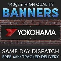 Yokohama Full Colour Vinyl Banner Garage Man Shed Cave Workshop