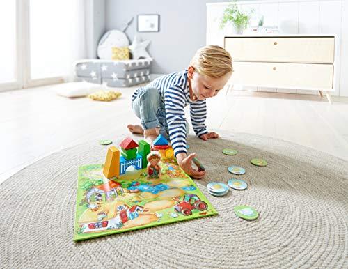 HABA 304223 - Meine ersten Spiele - Spielesammlung, 10 erste Spiele auf dem Bauernhof für 1-3 Kinder ab 2 Jahren