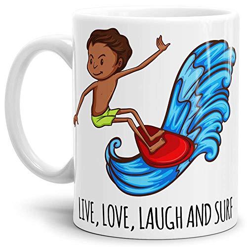 Tasse mit Spruch Surfer - Kaffeetasse/Mug/Cup - Qualität Made in Germany