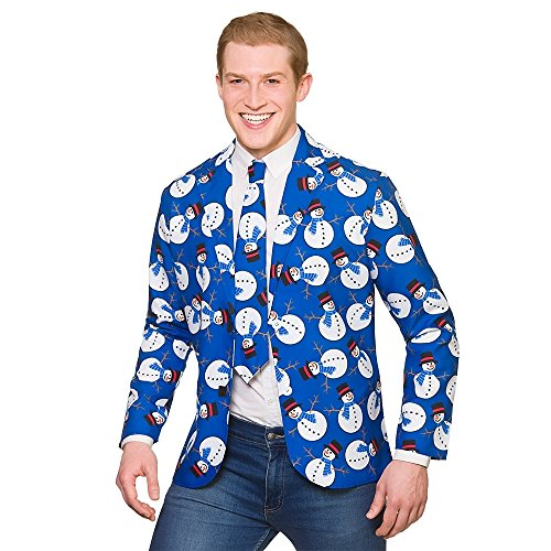 Christmas Jacket and Tie Snowman Extra Large for Fancy dress Costume