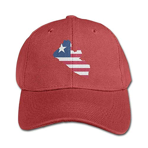 errterfte Flag Map of Liberia Pure Color Baseball Cap Cotton Kid Boys Girls Hat Personalized Hat Comfortable Adjustable -