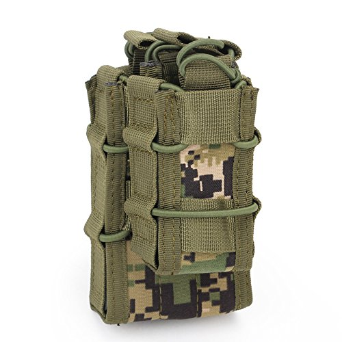 DECHO-C Molle Double Decker Mag Pouch Cartridge Clip Holder Hunting Bag Multicamo Airsoft AK47 M4 M16 Tactical Pouch