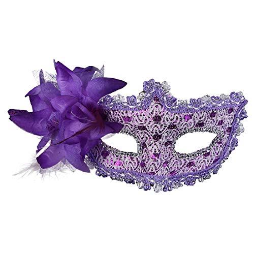 Party Masks - Sexy Lace Eye Masks Venetian Mask Masquerade Carnival Masked Ball Fancy Dress Costume Halloween - Lace Wear Headbands Stick Kids Women Bulk Sticks Glasses Adult Party Masks Sup (Adult Costums Halloween)