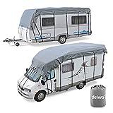 Wohnwagen & Wohnmobil Schutzdach Dachschutzplane 5 bis 10 Meter Länge, 3 Meter Breite, 3 Schichten 160g, Winter geeignet