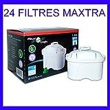 24 x FilterLogic FL402H - Cartouche filtrante compatible BRITA Maxtra pour fill & enjoy Elemaris / Marella / Navelia / Optimax et Bosch - Siemens Tassimo carafe filtrante