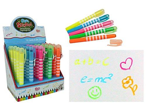 Cool School Wachsmalkreiden Highlighter Stift