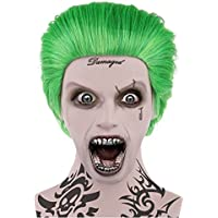 Joker estilo verde disfraz peluca malvada adultos tamaño ...