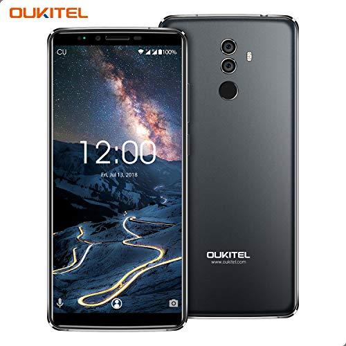 Oukitel K8 Android 8.0 4G-LTE Smartphone Libero,6.0' FHD Proporzione 18:9, 4GB RAM + 64GB ROM, Batteria 5000mAh, fotocamera frontale da 5 MP + Doppia Telecamera posteriore da 13 MP + 2 MP, Face ID