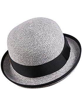 cappello femminile aggraffatura Cappello di paglia Protezione solare spiaggia cappello traspirante All'aperto...