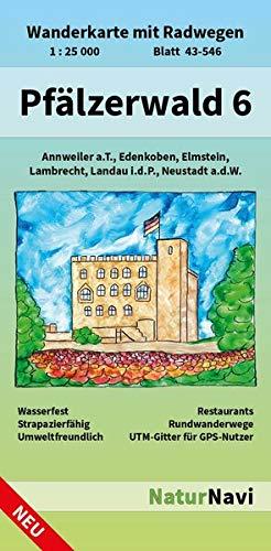 Pfälzerwald 6: Wanderkarte mit Radwegen, Blatt 43-546, 1 : 25 000, Annweiler a.T., Edenkoben,...