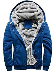 Linyuan Men's Casual Warm Jacket Long Sleeve Sport Coats Zip Hoodies Sweatshirt Jacket