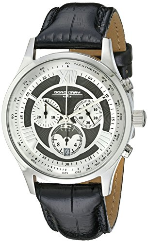 Jorg Gray Men's Quartz Watch with Silver Dial Analogue Display and Black Leather Strap JG6600-24