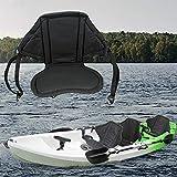 HUVE Sedile per Kayak Sedile per Barca Universale con Schienale Alto con Base Imbottita E Antiscivolo, Sedile per Cuscino Regolabile per Kayak con Tuta per Kayak, Canoa, Deriva