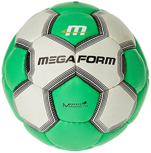 Megaform Fairtrade–Balón de balonmano–amarillo/rojo, color , tamaño talla 1