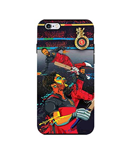 Macmerise Licensed Royal Challengers Bangalore RCB Premium Printed Back cover Case for iPhone 6