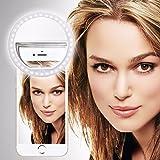 SISWOO R9 DARKMOON (Weiß) Clip auf Selfie Ringlicht, mit
