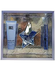 Thierry Mugler Angel 25mL Eau de Parfum 50 mL Body Lotion mit 3 gr Parfum Stift, Damen Düfte
